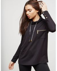 Barbour - Womens International Byway Sweatshirt - Online Exclusive Black - Lyst