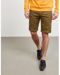 HUGO - Mens Glen Shorts Olive/olive - Lyst