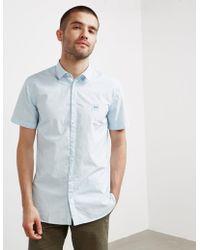 BOSS - Mens My Poplin Short Sleeve Shirt Blue - Lyst