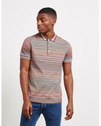 Missoni Dye Short Sleeve Polo Shirt Multi - Multicolor