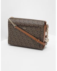 DKNY Bryant Logo Shoulder Bag Brown