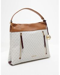 Michael Kors | Womens Lex Hobo Shopper Bag White | Lyst