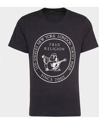 True Religion Circle Buddah T-shirt - Black