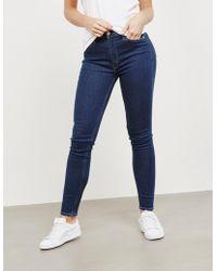 Calvin Klein - Womens 010 Skinny Jeans Blue - Lyst
