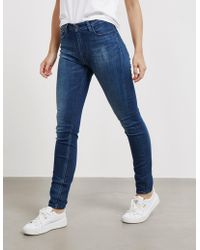 Tommy Hilfiger - Santana High Rise Skinny Jeans - Online Exclusive Blue - Lyst