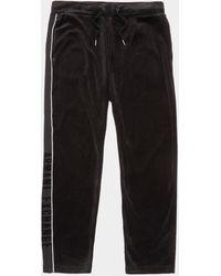 Armani Exchange Velour Track Pants Black