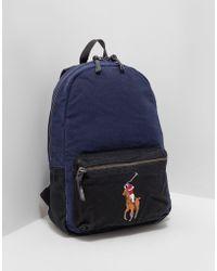 Polo Ralph Lauren - Mens Canvas Backpack Navy Blue - Lyst
