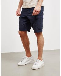 BOSS Sargo Cargo Shorts Navy Blue