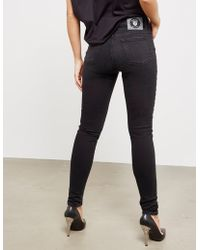 Versus - Womens Logo Skinny Jeans Black - Lyst