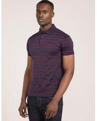 Z Zegna - Mens Pattern Polo Shirt Lilac - Lyst