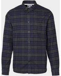 Norse Projects Anton Check Long Sleeve Shirt Multi - Blue
