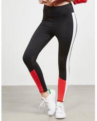 DKNY - Womens Colour Block Leggings Black - Lyst