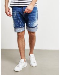 DSquared² - Used Shorts Blue - Lyst