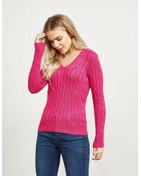 Polo Ralph Lauren Kimberly Knit Sweater Pink