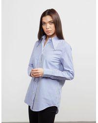 Vivienne Westwood Anglomania Stripe Long Sleeve Shirt - Blue