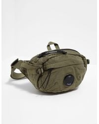 C P Company Lens Nylon Bum Bag Green