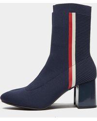 Tommy Hilfiger Knit Boots Navy Blue