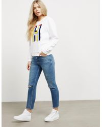 Tommy Hilfiger - Womens Basic Sweatshirt - Online Exclusive White - Lyst