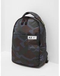 Armani Exchange Camouflage Backpack Green