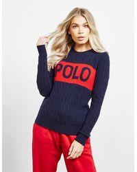 Polo Ralph Lauren Logo Knit Sweater Navy Blue