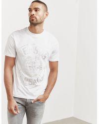 Versus - Mens Holographic Lion Short Sleeve T-shirt White - Lyst
