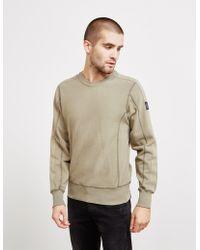 Belstaff - Mens Raglan Sweatshirt Green - Lyst