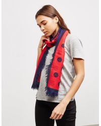 Armani Exchange Spot Scarf Red