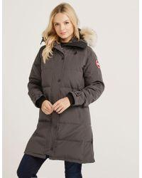 Canada Goose - Womens Shelburne Padded Parka Jacket Grey - Lyst
