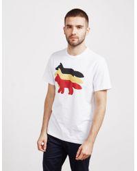 Maison Kitsuné Foxes Short Sleeve T-shirt - Online Exclusive White