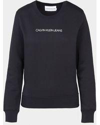 Calvin Klein Shrunken Institutional Sweatshirt - Black