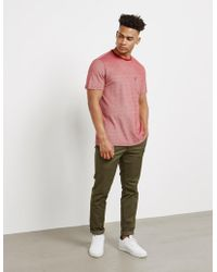 Barbour - Mens Nautical Pique Short Sleeve T-shirt Red - Lyst
