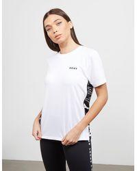 DKNY Color Block Logo T-shirt - White