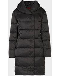 HUGO Long Puffer Jacket - Black