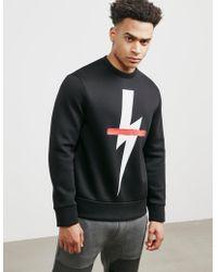 Neil Barrett - Mens Bolt Cross Sweatshirt Black - Lyst