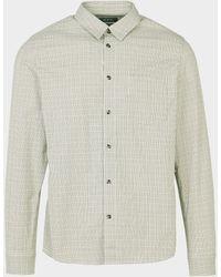 A.P.C. Mic Check Long Sleeve Shirt - Green