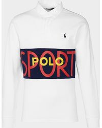 Polo Ralph Lauren Rugby Long Sleeve Polo Shirt - White