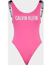 Calvin Klein Scoop Swimming Costume - Pink