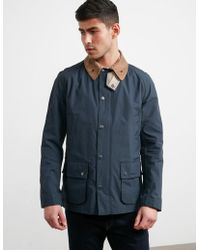 Barbour - Mens Squire Ashby Coat Navy - Lyst