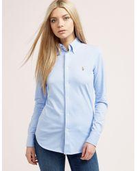 Polo Ralph Lauren - Womens Oxford Shirt Blue - Lyst