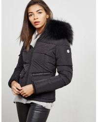 FROCCELLA Big Fur Padded Jacket Black
