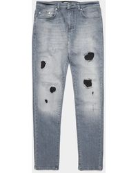 Represent Ripped Skinny Jeans - Exclusive - Exclusively To Tessuti Grey - Gray