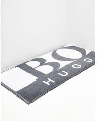 BOSS Logo Towel Grey - Gray