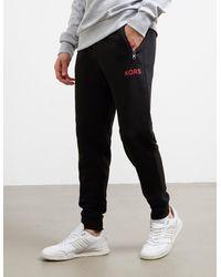 Michael Kors Solid Fleece Terry Pants Black