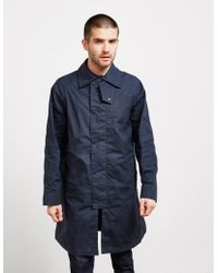 Barbour - X Engineered Garments South Overcoat Navy Blue - Lyst