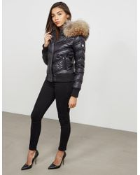 FROCCELLA - Womens Padded Bomber Jacket Black - Lyst