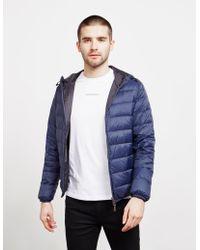 Emporio Armani Reverse Padded Jacket Navy Blue