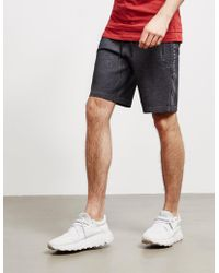 Armani Exchange Logo Leg Shorts Black