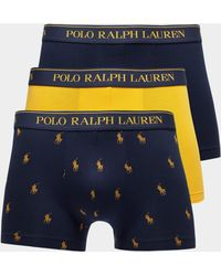Polo Ralph Lauren - Mens 3-pack All Over Print Boxer Shorts Navy Blue - Lyst
