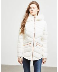 Barbour - Womens Superstock Quilted Padded Jacket White - Lyst