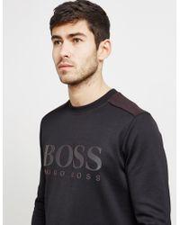 BOSS - Mens Salbo Sweatshirt Black - Lyst